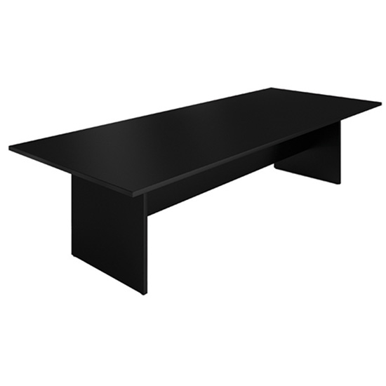 10′ Conference Table - Black