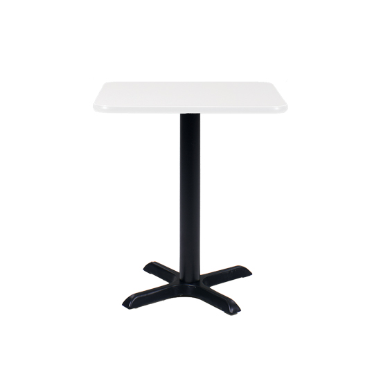 24″ Square Cafe Table with Black Base