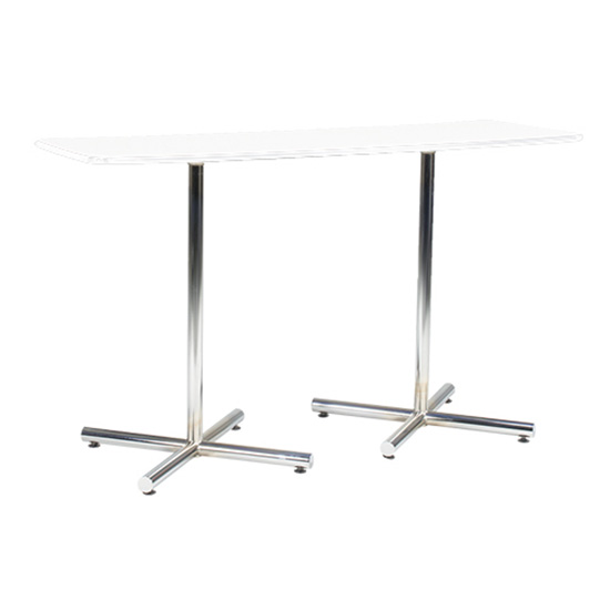 6' Rectangle Bar Table with Chrome Base