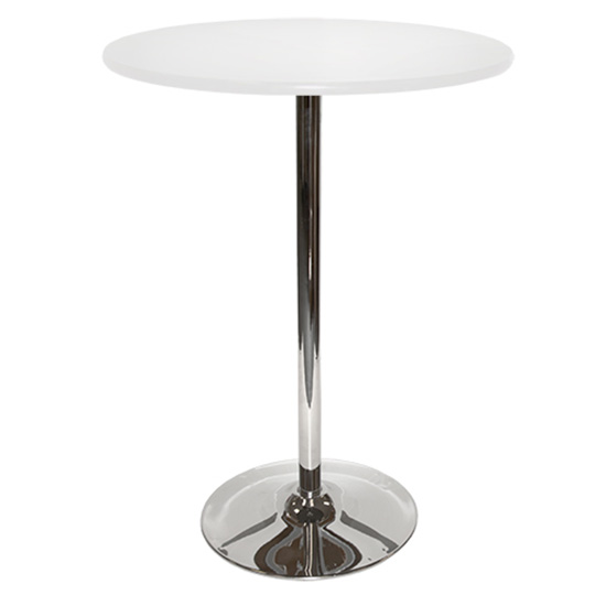 30″ Round Bar Table With Tulip Base - White