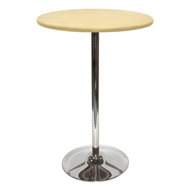 30″ Round Bar Table With Tulip Base - Maple