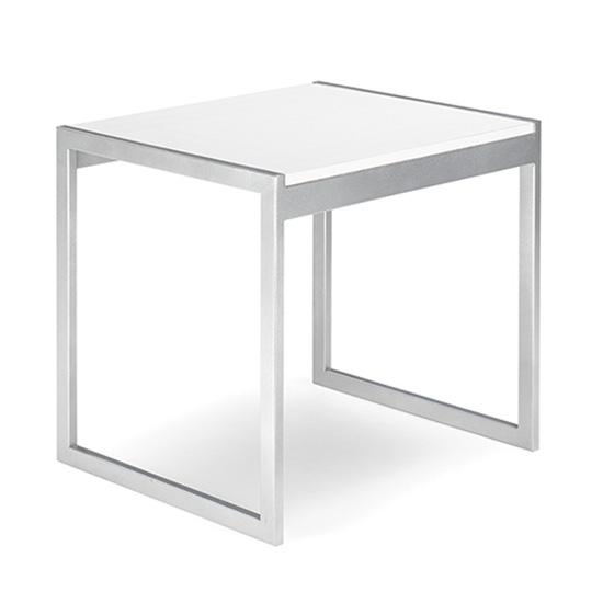 Aria End Table - White