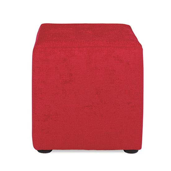 Regency Cube Ottoman - Ruby