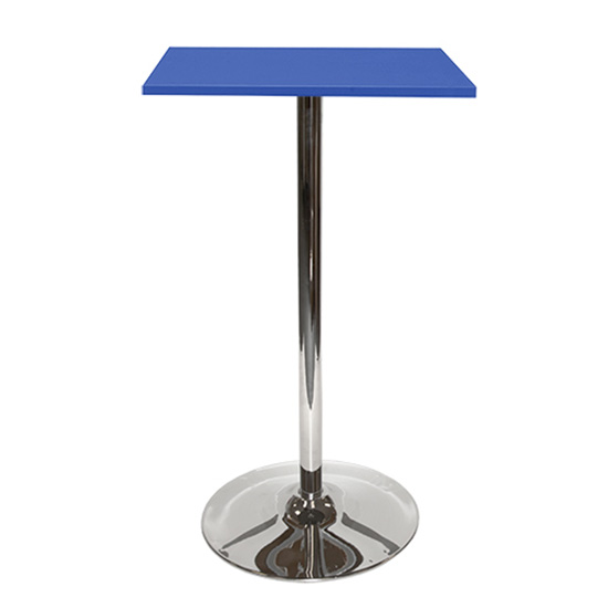 Spectrum Bar Table With Tulip Base - Blue