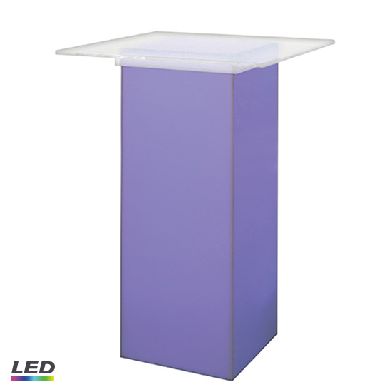 LED Acrylic High Top Table