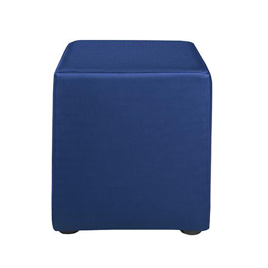 Benton Cube Ottoman - Blue