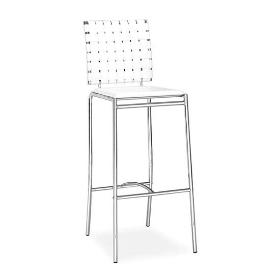 Criss Cross Bar Stool - White