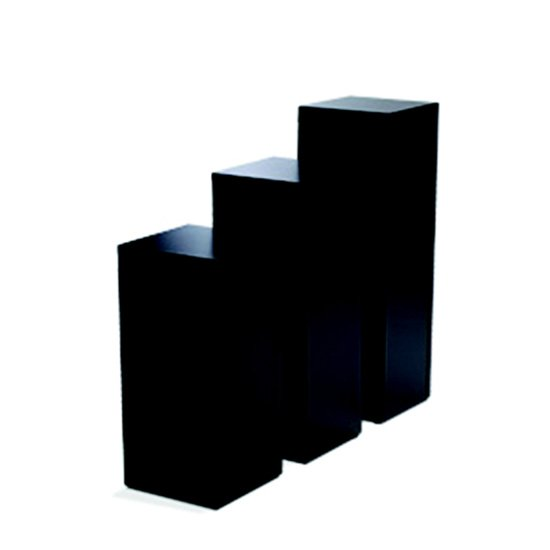 Display Pedestal 30″ Black 24″ Sq.
