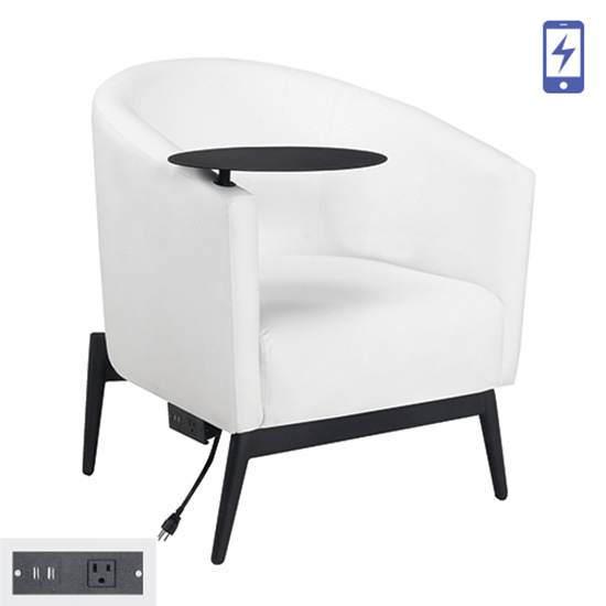 Patrice Tablet Chair - Charged
